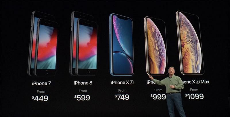 ราคาของ iPhone Xs, iPhone Xs Max และ iPhone XR