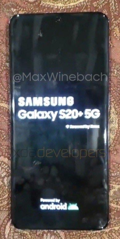 หลุดรูปตัวเครื่องของSamsungGalaxyS20Plusรุ่น5G