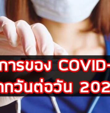 อาการของ COVID-19 จากวันต่อวัน 2020