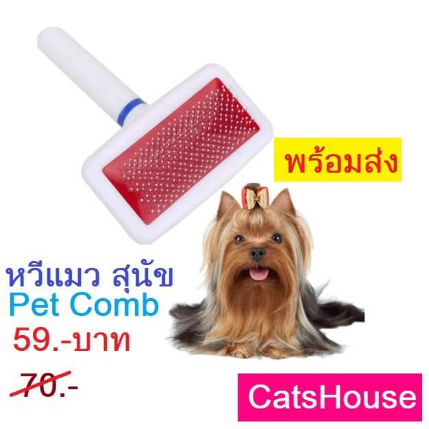 หวีแมว หวีสุนัข ที่แปรงขน แมว สุนัข สุดคุ้ม